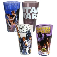 Star Wars Original Trilogy 16 oz. Pint Glass 4-Pack